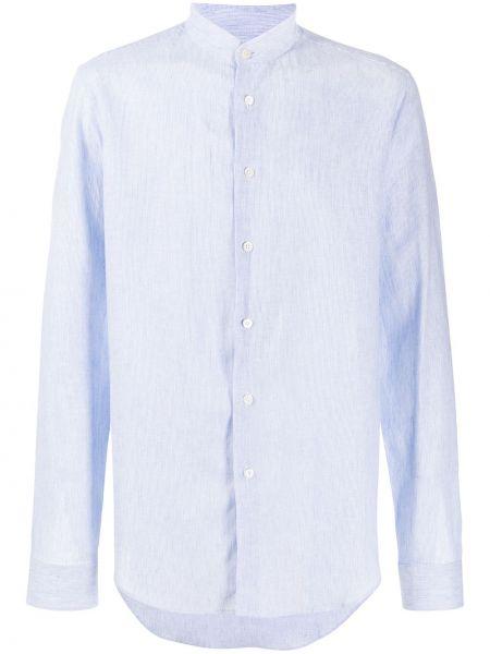 Koszula z długim rękawem długa zapinane na guziki Dell'oglio