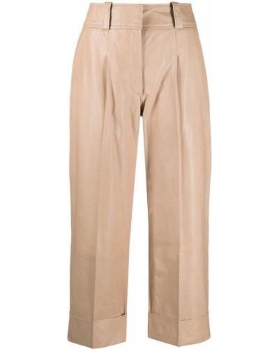 Со стрелками прямые кожаные укороченные брюки Arma