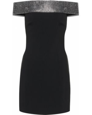 Włókienniczy czarny sukienka rozciągać Christopher Kane