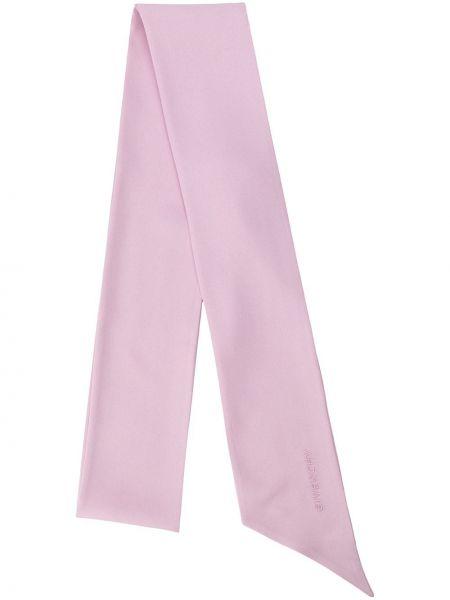 Prążkowany różowy szalik z jedwabiu Givenchy