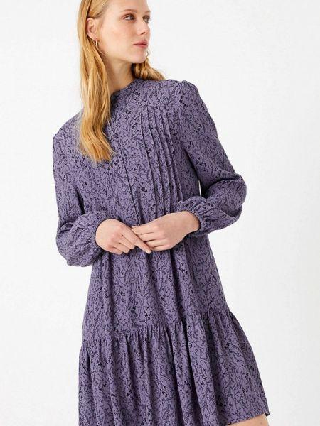 Повседневное платье фиолетовый весеннее Marks & Spencer