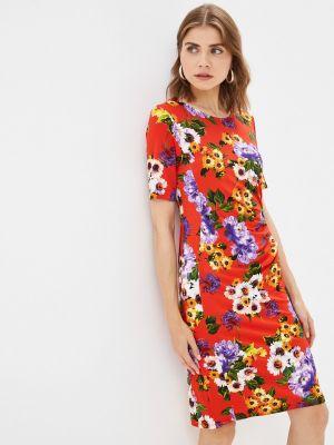 Платье футляр - красное Passioni