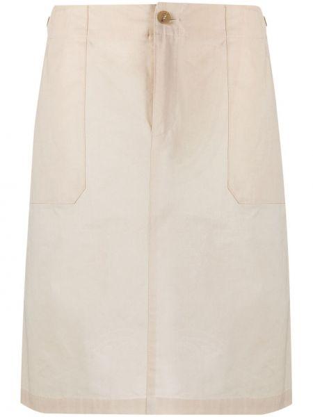 С завышенной талией прямая юбка на пуговицах A.p.c.