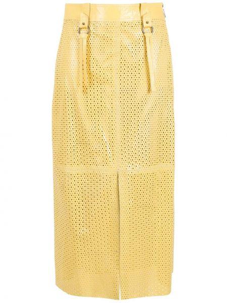 Желтая юбка с завышенной талией НК