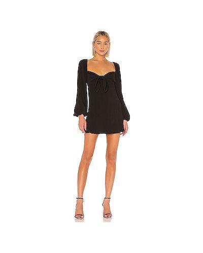 Платье мини с бантом черное Finders Keepers