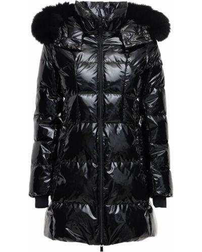 Nylon czarny kurtka z kapturem z mankietami z kieszeniami Tatras