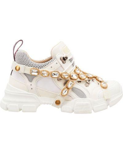 Кроссовки замшевые с перфорацией Gucci