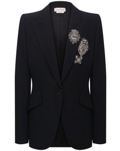 Пиджак с подкладкой из вискозы Alexander Mcqueen