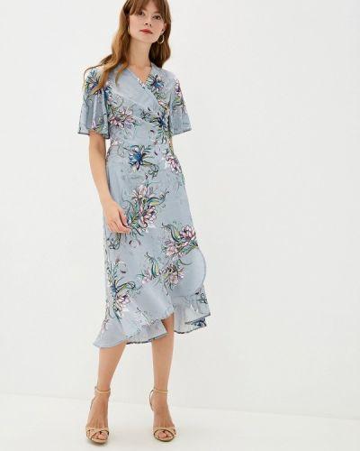 Платье серое прямое Doroteya