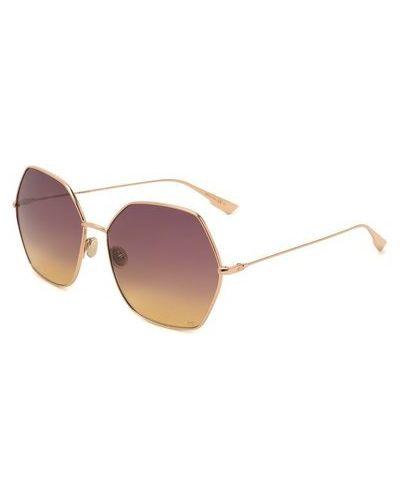 Фиолетовые солнцезащитные очки металлические Dior