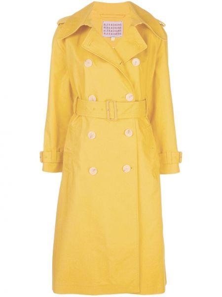 Желтый длинное пальто на пуговицах Alexa Chung