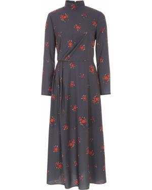 Шелковое платье макси - серое A La Russe