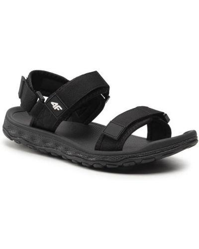Czarne sandały 4f
