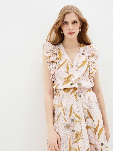 Блузка розовая с рюшами Ted Baker London
