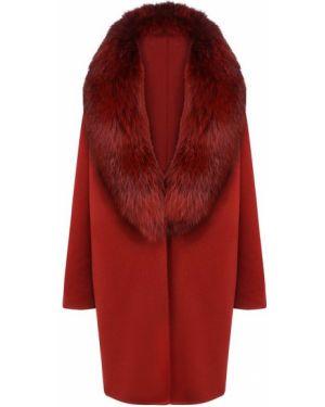 Кашемировое пальто - красное Colombo