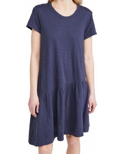 Асимметричное трикотажное платье с короткими рукавами Wilt