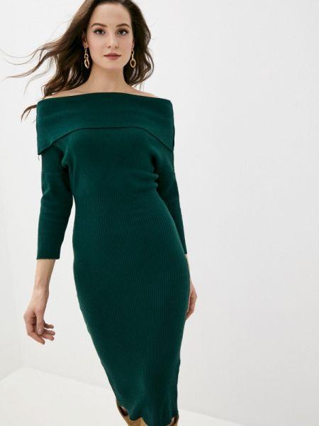 Платье футляр зеленый Goldrai