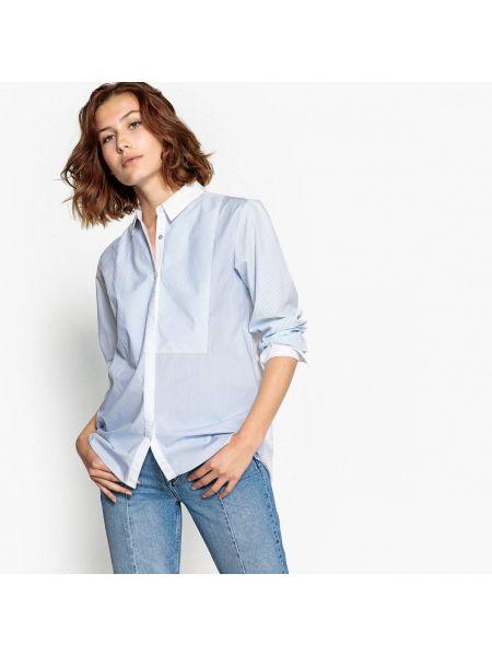 Рубашка с длинным рукавом в полоску хлопковая Pepe Jeans
