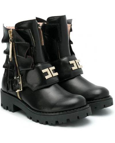 Ботинки на молнии кожаные Elisabetta Franchi La Mia Bambina