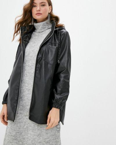 Черная кожаная куртка Defacto