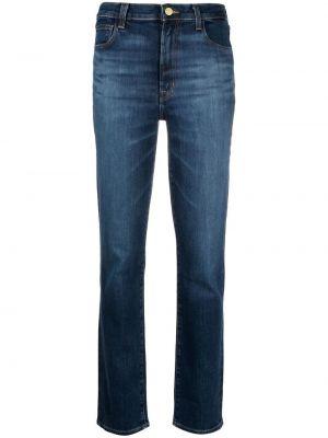 Хлопковые синие джинсы на пуговицах J Brand