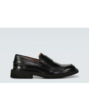 Туфли на толстой подошве черные кожаные Bottega Veneta