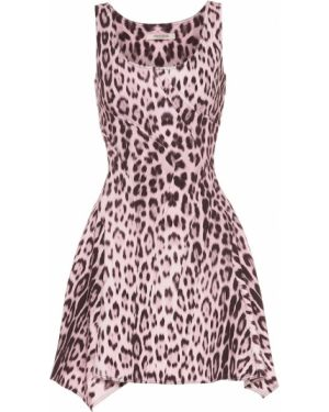 Розовое джинсовое платье Roberto Cavalli