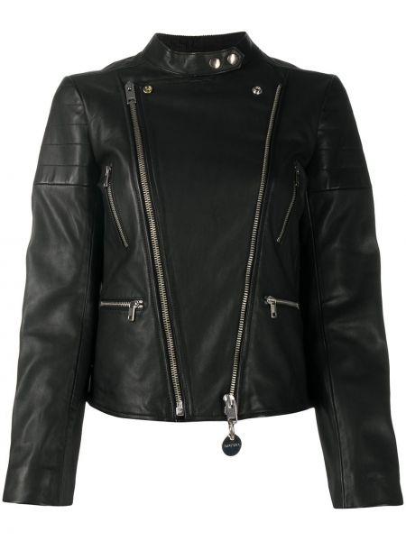 Черная кожаная куртка на молнии Diesel