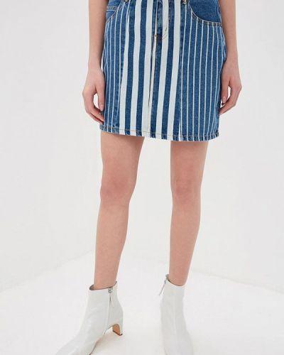 Джинсовая юбка синяя Noisy May