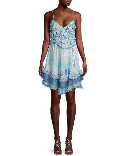 Кружевное платье мини из вискозы на бретелях Rococo Sand