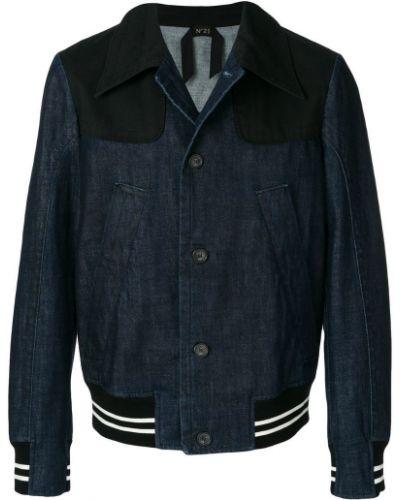 Джинсовая куртка длинная на пуговицах N21