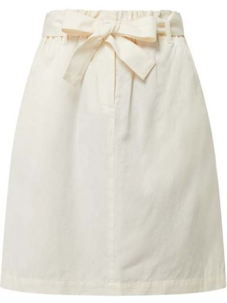 Beżowa spódnica mini rozkloszowana z paskiem Marc O'polo