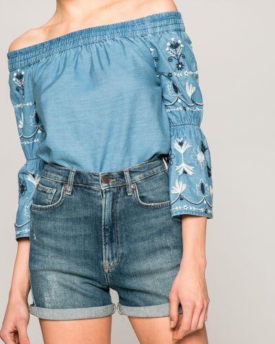 Джинсовые шорты с завышенной талией с подкладкой Pepe Jeans