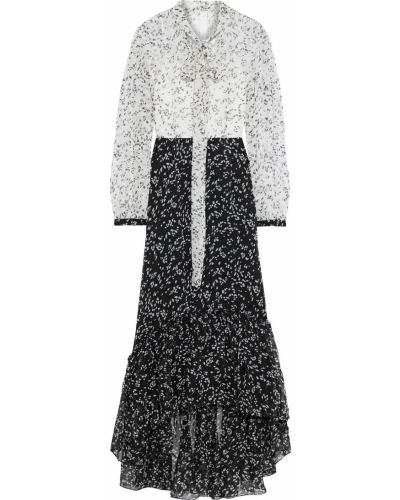 Асимметричное белое платье макси на пуговицах Mikael Aghal