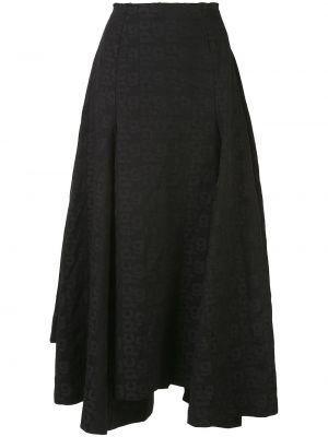 Пышная черная юбка миди на молнии Comme Des Garçons