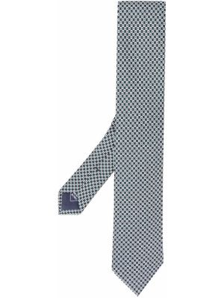 Галстук шелковый черный Brioni
