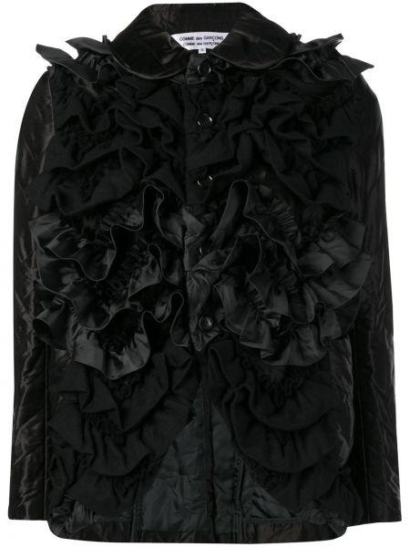 Шерстяная приталенная черная куртка Comme Des Garçons Comme Des Garçons