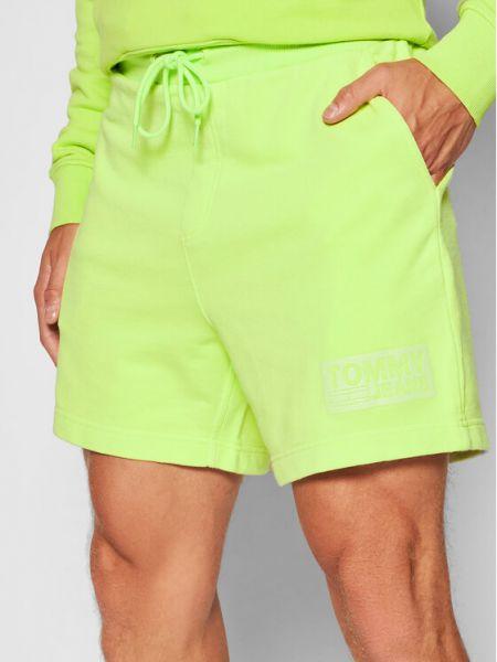 Zielone szorty na plażę Tommy Jeans