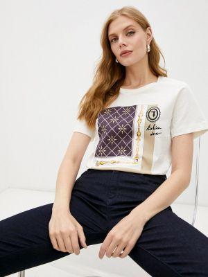 Белая футболка с короткими рукавами Trussardi
