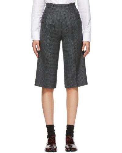 Шерстяные черные шорты с карманами Maison Margiela