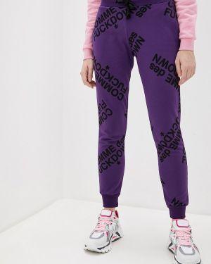 Фиолетовые пуховые спортивные брюки Comme Des Fuckdown