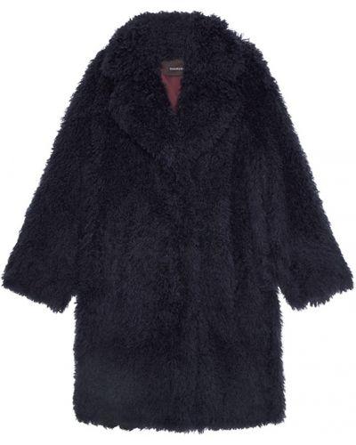 Шелковое синее пальто оверсайз Chapurin