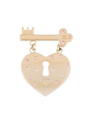 Broszka pozłacany złoto Chanel Pre-owned
