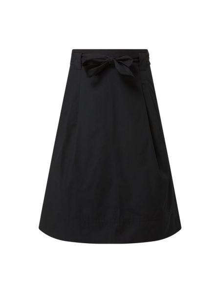Czarna spódnica rozkloszowana z paskiem Christian Berg Women