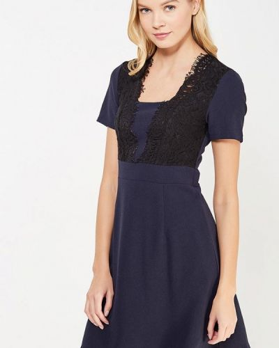 Платье осеннее синее La Petite Etoile