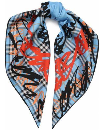 Голубой платок из шелка Burberry