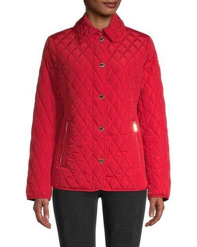 Черная стеганая длинная куртка на молнии Michael Michael Kors