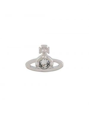 Серебряные серьги с бабочкой металлические Vivienne Westwood