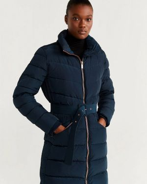 Зимняя куртка осенняя синий Mango