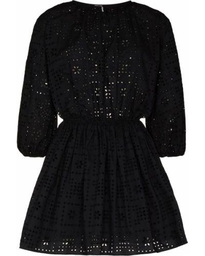 Черное платье мини с вырезом Matteau